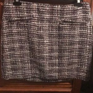 Tweed Zip Pencil Skirt